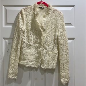Saks Fifth Ave Signature Lace Blazer Jacket 0/XS